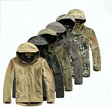 Men Jacket AU Style Waterproof Coat Airsoft Military Hoodie Hunting TAD Shell