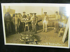 WW1    POSTCARD RP 1916 SOLDIERS BROCTEN CAMP BAKERY