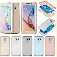 Soft Shockproof Full Protective Front+Back TPU Gel Case Cover for Apple Samsung