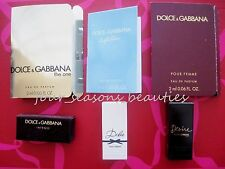 Any 3 DOLCE & GABBANA samples ~ 7 choices! ~ Desire, Intense, Light Blue, Dolce!