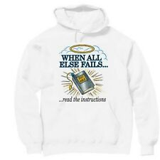 Pullover Hooded hoodie christian sweatshirt when fails read instructions BIBLE
