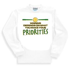 Sports Sweatshirt Tennis Winning Depends On What You Make Your Priorities