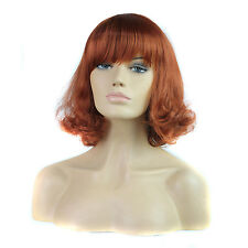 "Fashion Wigs Women 13"" Medium Curly Bangs Hair Natural Party Sexy Full wigs"