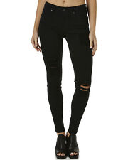 New Dr Denim Women's Regina Regular Waist Jean Womens Slimfit Black