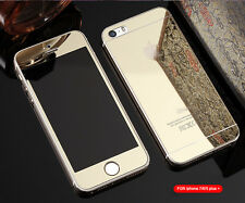 Mirror Tempered Glass Front+Back Screen Protector For Apple iphone 5S 6S 7 7Plus
