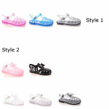 GIRLS CHILDRENS SUMMER CASUAL GLADIATOR FASHION JELLY SANDALS SHOES 4 FOR £10