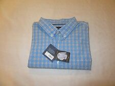 Long Sleeve Button Front Men's Shirt XL Croft & Barrow Blue Plaid NWT