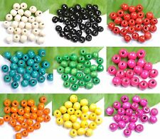 Wholesale 1000pcs Bright Color Wooden Round Wood Beads 4MM*3MM