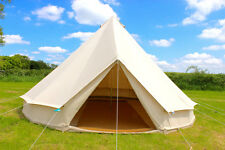 100% Cotton Canvas Teepee Tipi Bell Tent Large Family Camping 12/10/8 Man Tents
