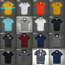 NWT ABERCROMBIE & FITCH MENS MULTI COLOR CASUAL POLO SHIRTS SIZE M,L,XL,XXL A&F