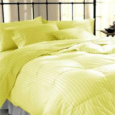 USA SOFT 1000TC YELLOW STRIPE AMERICAN BEDDING SHEETS COLLECTION 100% COTTON - Y
