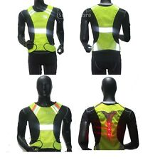 High Visibility Reflective Vest Safety Security Waistcoat Gear Night Work Jacket