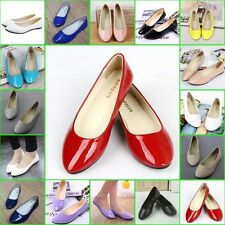Casual Women Flat Shoes Ballet Flats Shiny Work Shopping Pumps Ladies Flat Shoes