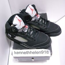 NEW 2007 NIKE AIR JORDAN V 5 RETRO BLACK METALLIC SILVER FIRE RED MENS SIZE 9