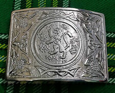 New Mens Scottish Thistle Kilt Belt Buckle/Kilt Belt Buckle Lion Rampant Antique