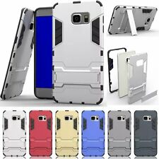 For Samsung Galaxy Phone Case Hard Soft Kickstand Dual Layer Protective Cover