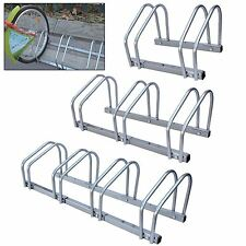 2,3,4 Bike Stand Wall Floor Mounted Cycle Rack Bicycle Security Holder Storage