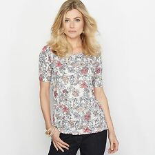 La Redoute Womens Crinkled Jersey Printed T-Shirt