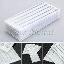 Professional Disposable Sterile Tattoo Needles Round Shader Machine Supplies 9RS