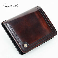 Wallet Men Small Leather Handmade Holder Credit Card Holders Brown Men Purse