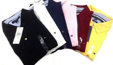 Tommy Hilfiger Short Sleeve Polo Shirt Mens Knit Mesh All Sizes New With Tags