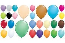 "100 Qualatex Standard Finish Helium Quality 11"" Latex Balloons Choose Colour"