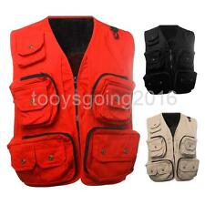 Military Multi-Pocket Mesh Vest Fly Fishing Hunting Camping Jacket 62.5-115KG