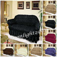 JACQUARD FURNITURE SOFA SETTEE SLIP COVER SOFA THROW ARM 1, 2 & 3 SEATER SOFA