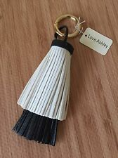 Faux Leather Two tone Tassel Purse Handbag Finder Fob Accessories