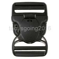 Plastic Side Release Buckle Clip For Webbing Bags Straps Clips 50/38mm Black