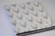 Handmade Baby Minky Toddler Woodland Deer Head Crib Receiving Stroller Blanket