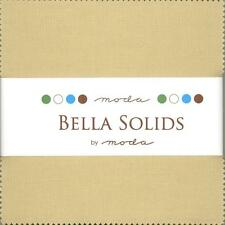 Bella Solids Tan Charm Pack by Moda, 42 5-inch Precut Fabric Squares 9900PP-13