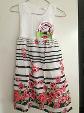Pretty Girls Rose Border Print Party Dress - Sizes 3 - 7. New with Tags