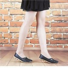 New Fashion Womens Leather Ballet Ladies Oxfords Hollow Loafers Flats Shoes Q