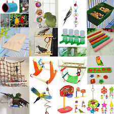Pet Bird Bites Parrot Chew Toys Hanging Cockatiel Parakeet Swing Cage Treat Toy