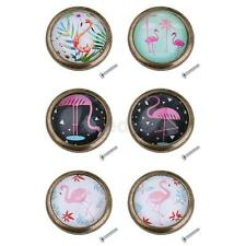Retro Door Dresser Drawer Cabinet Cupboard Pull Knob Handle Deco Flamingo 6 Type