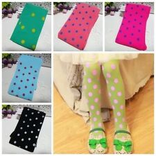 1pcs Kids GirlS comfortable Tights Pantyhose DOT blue red Black Fit For 3-10Yrs