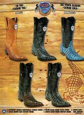 Wild West Men's Caiman Tail XXX-Toe Cowboy Western Boots Different Colors