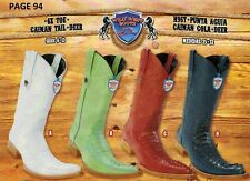 Wild West Men's 6X-Toe Caiman Tail/Deer Cowboy Western Boots Diff. Colors