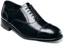 Florsheim Men's Lexington Cap Lace Up Leather Oxford Dress Shoes Black 17067