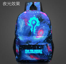 New World of Warcraft Leisure Luminous Bag WOW Horde Symbol Backpack Schoolbag