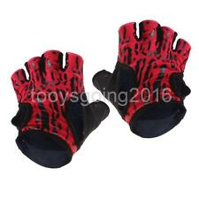 1pair Lady Weight Lifting Half Finger Short Gloves Gel Padded Cycling Mitts