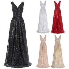 Sparkly Long Formal Evening Cocktail Party Gown Dress Bridesmaid Prom Maxi Ball