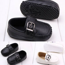 Anti-Slip Soft Sole Leather Boys Girls Baby Infant  Kids Gift Shoes 0-18 Month