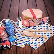 1 X Japanese Wood Chopsticks/Spoon Handmade Gift With Fish bag Cloth Pack Wooden