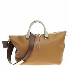 Chloe Bicolor Baylee Satchel Leather Large
