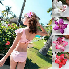 Women Summer Hawaii Style Beach Orchid Bridal Party Flowers Hair Clips 4colors