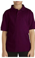 Dickies School Uniform Kids Short Sleeve No Logo Solid 3 Button Polo Shirt