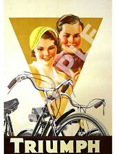 Triumph Cycles 3 : Vintage Magazine cycle advertising  , poster, Wall art.