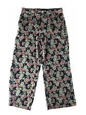 NEXT Summer Black White Pink Floral Loose Pants Trousers - Womens Size UK 12